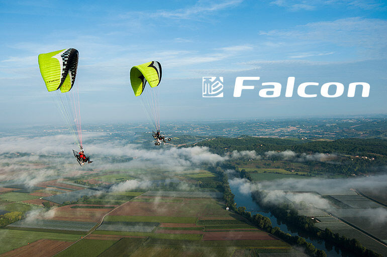 Gin Falcon paramotor wings for intermediate to expert pilots now at FlySpain