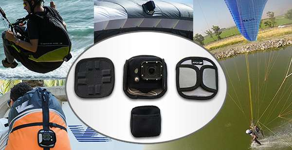 Go pro magnetic action camera for paragliding and paramotoring,