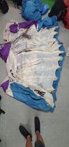 Atom medium in Blue white & purple