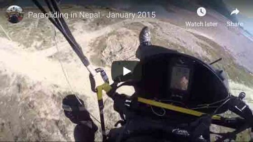 Paragliding in Nepal, January 2015