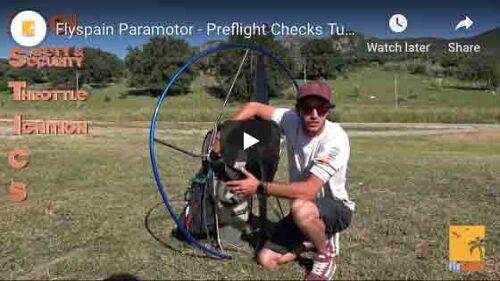 Paramotor Fustics pre flight checks