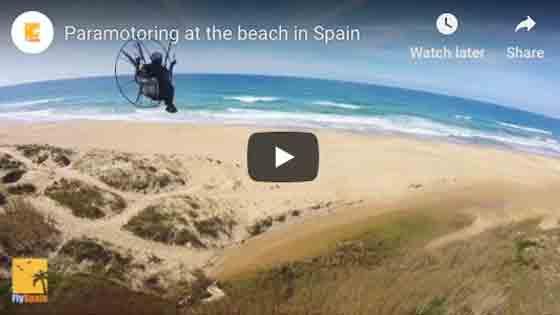 Paramotoring at the beach