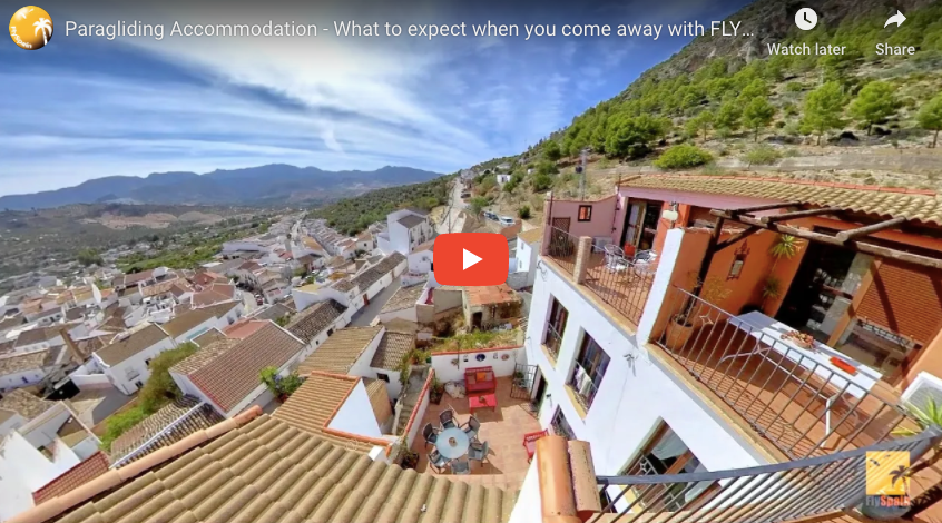 Fly Spain paragliding accommodation- Check out the Eagles Nest
