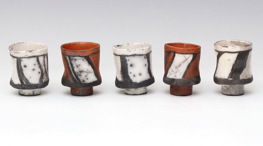 Elizabeth-Raeburn-Raku-Jasmin-Cups-miararts