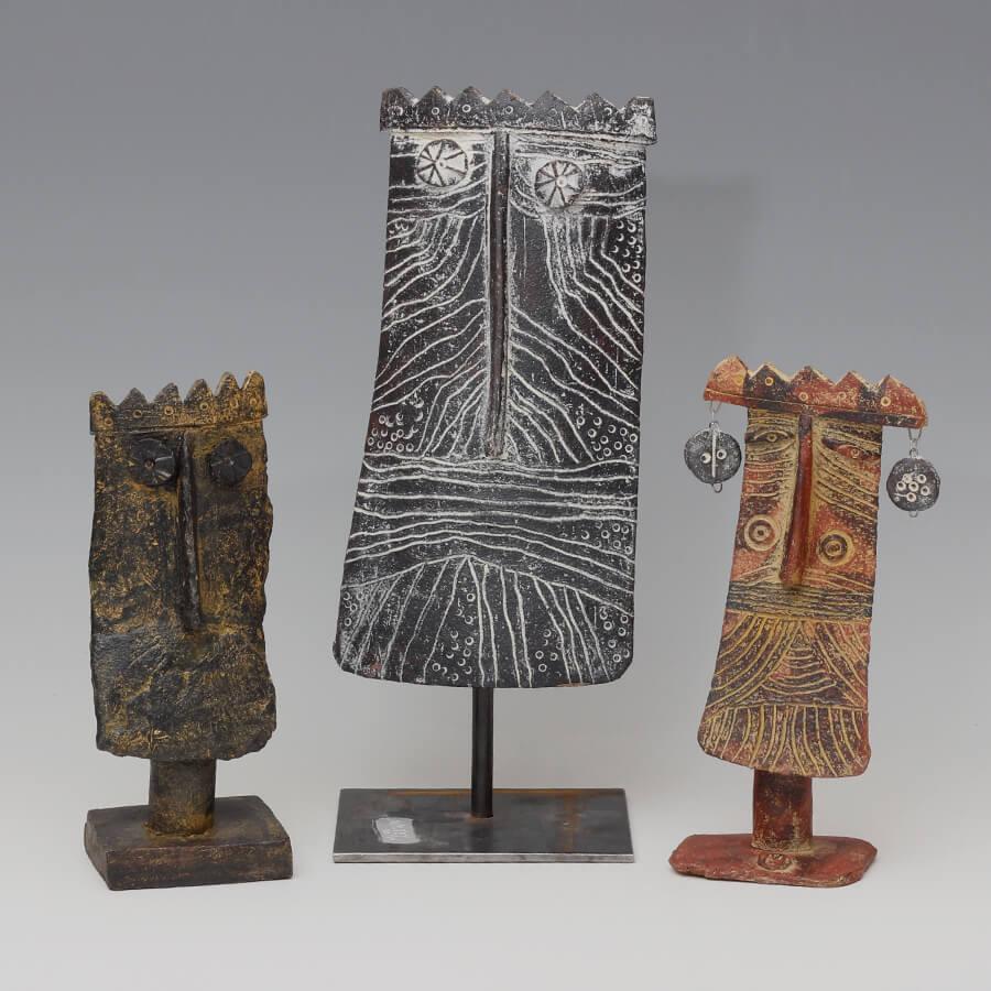 John-Maltby-Ceramic-Masks-of-Three-Kings-Sculpture-MIAR-Arts