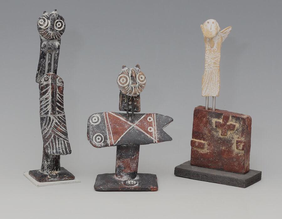 John-Maltby-Three-Ceramic-Sculptural-Figures-MIAR-Arts-Oct-2020