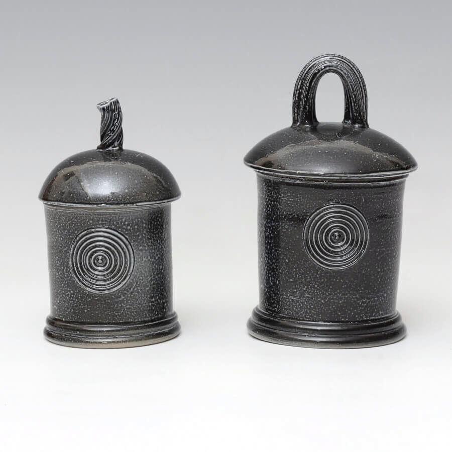 Walter-Keeler-Ceramic-Salt-Glazed-Jars