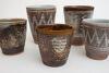 Pots by Chris Lewis, Joanna Constantinidis, Mary Rogers & John Ward