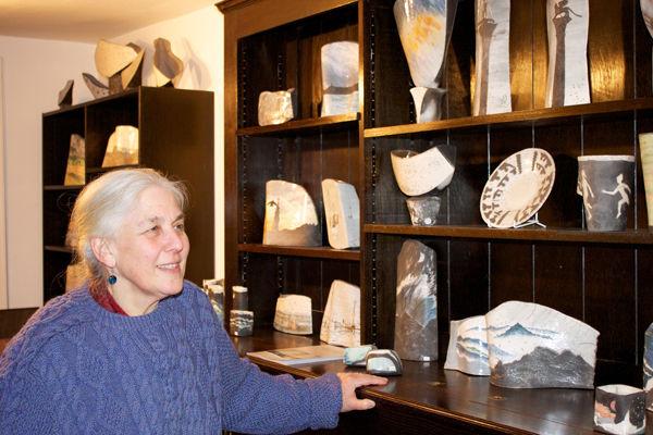Elizabeth Raeburn and her Raku Pottery