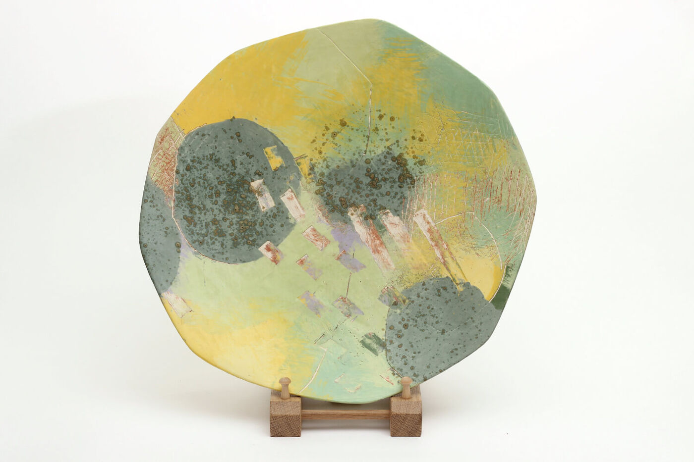 Carolyn Genders Ceramic Charger 'Euphorbia Euphoria'