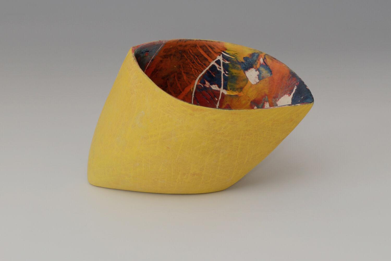Carolyn Genders Ceramic Earthenware Vessel 'Mellow Yellow'