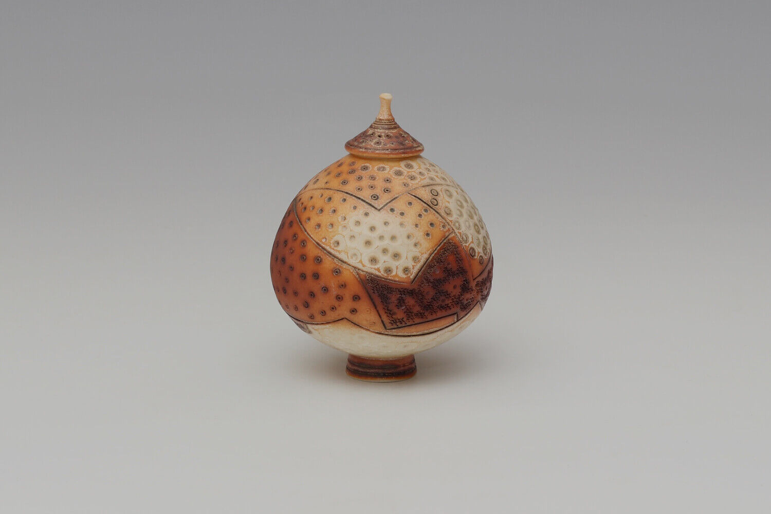 Geoffrey Swindell Ceramic Lidded Vessel 025