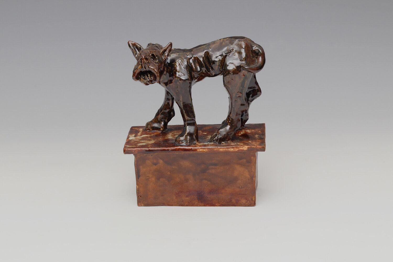 Ian Gregory Ceramic Dog Sculpture 08