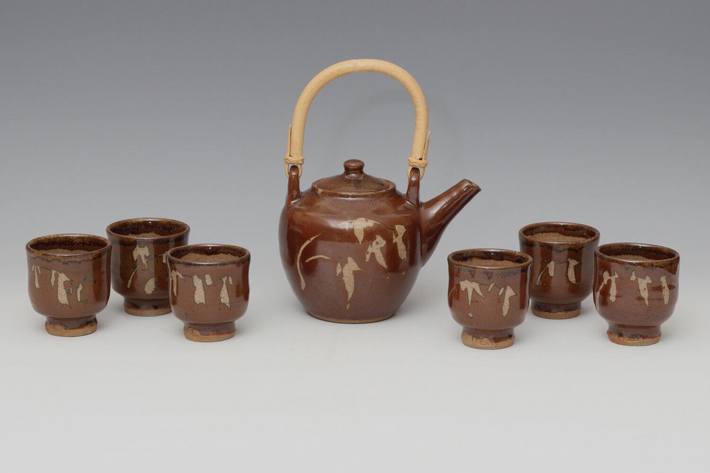 Jim Malone Ceramic Tea Pot & Yunomi Set