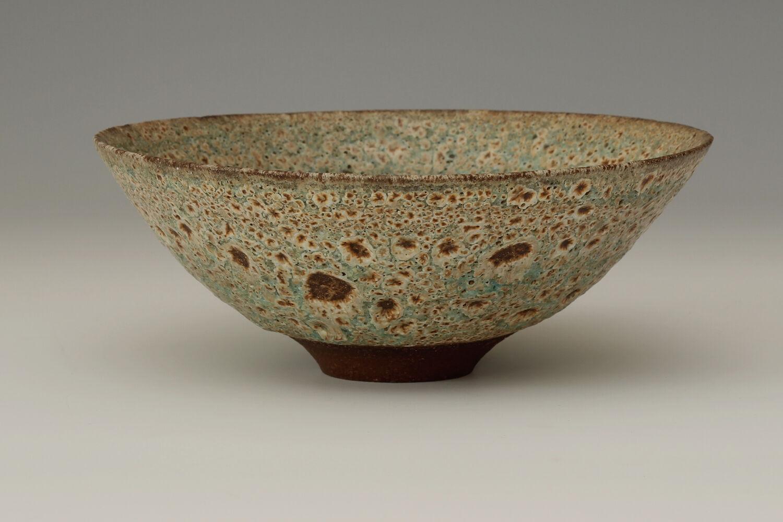 Peter Wills Ceramic Green & Brown Volcanic Stoneware Bowl 180