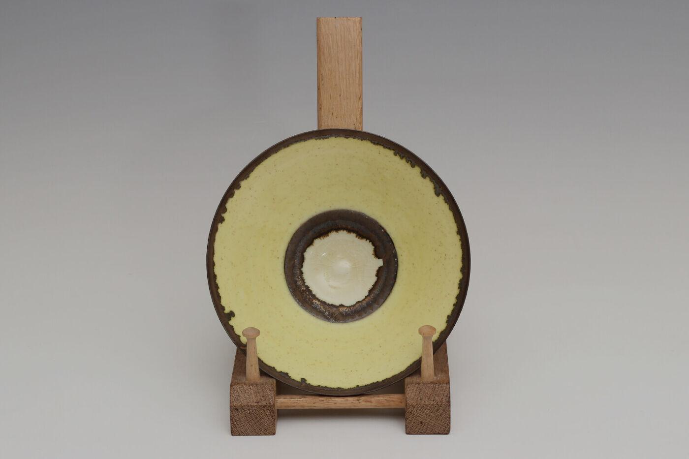 Peter Wills Ceramic Pale Flecked Yellow Porcelain Bowl 203