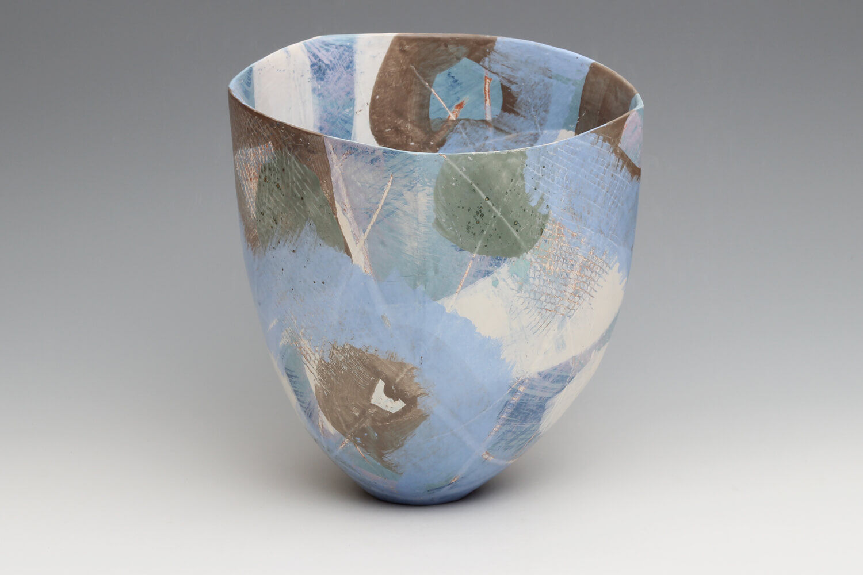 Carolyn Genders Ceramic Vessel 'Spring Skies'