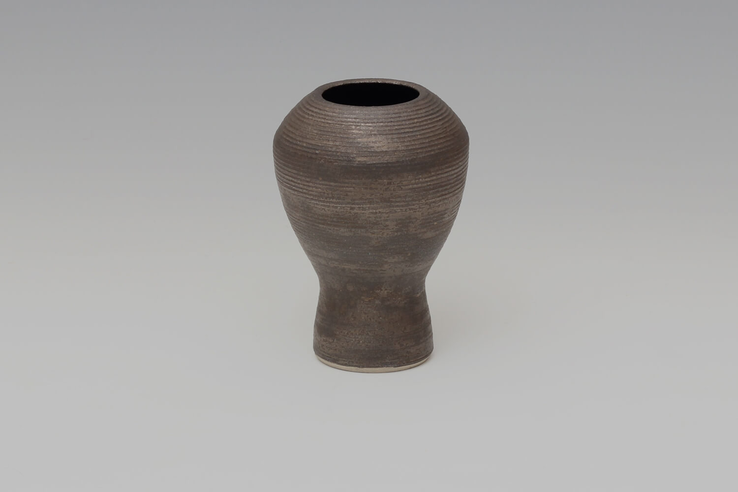 Chris Carter Ceramic Bronze Footed Jar Form 154