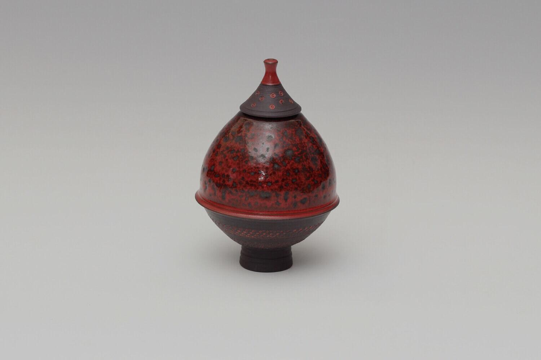 Geoffrey Swindell Ceramic Lidded Vessel 026
