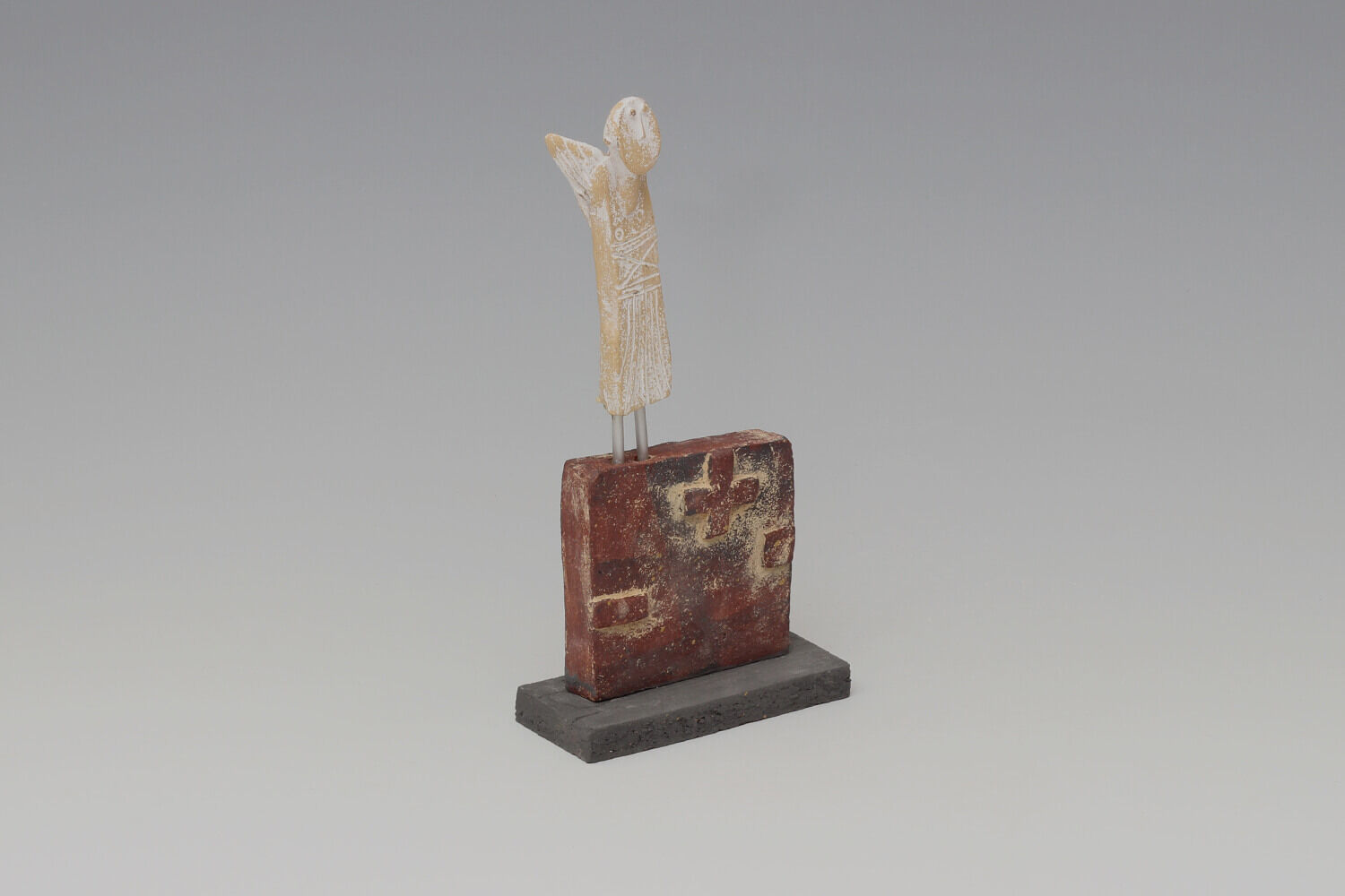 John Maltby Ceramic Sculpture of an Angel on a Wall 033