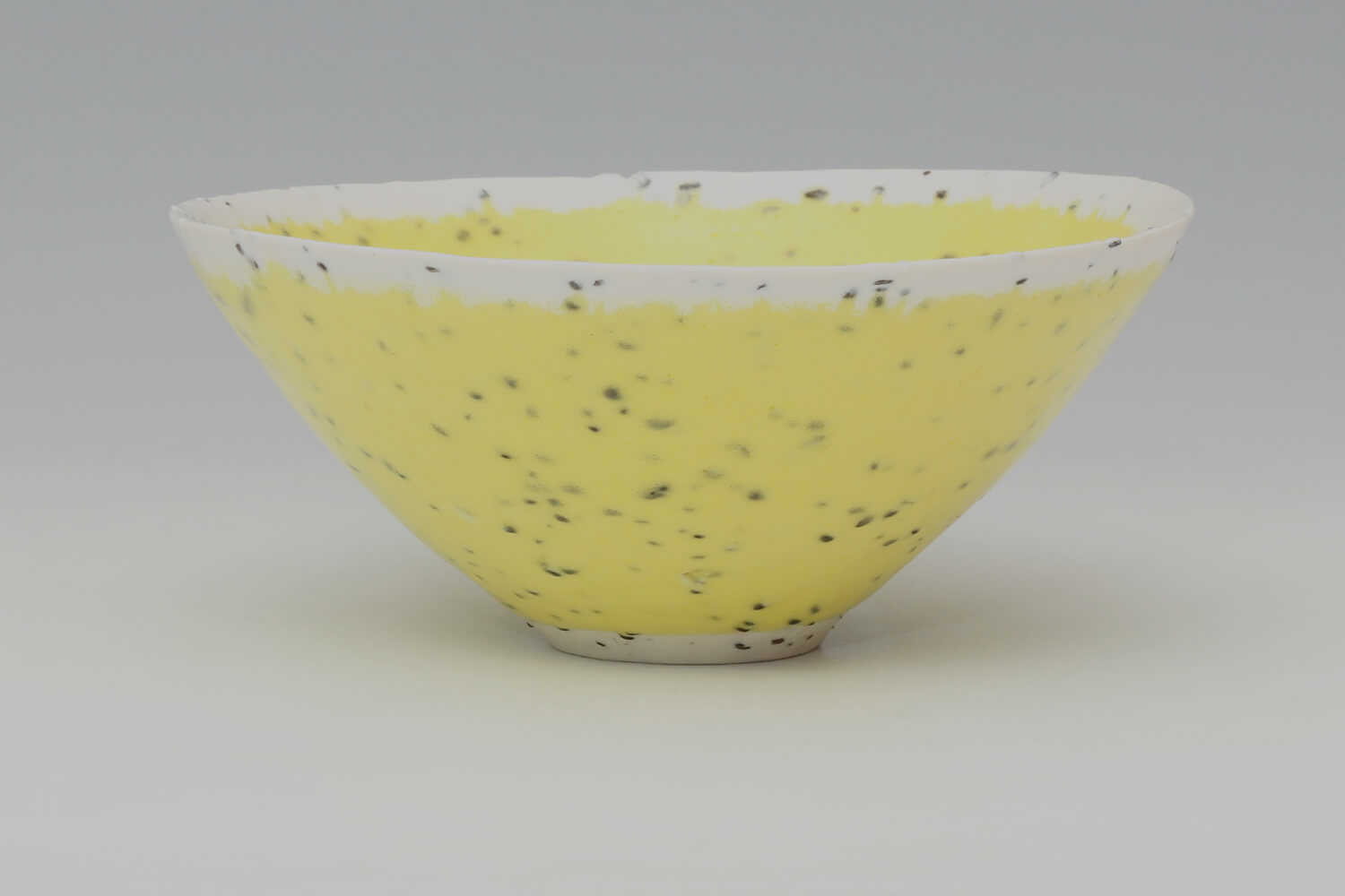 Peter Wills Ceramic Conical Yellow River Grogged Porcelain Bowl 193