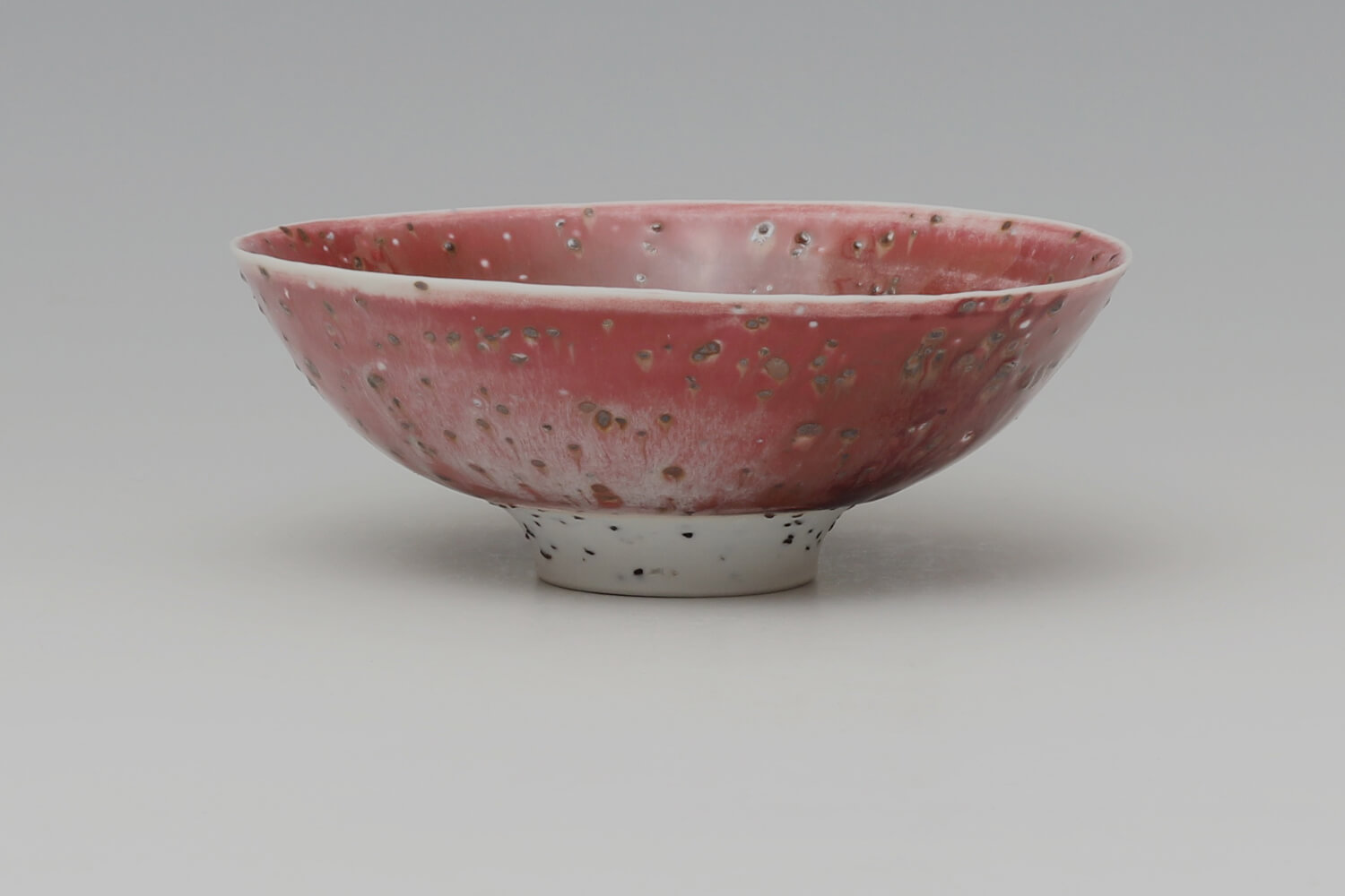 Peter Wills Small Ceramic Copper Red River Grogged Porcelain Bowl 196