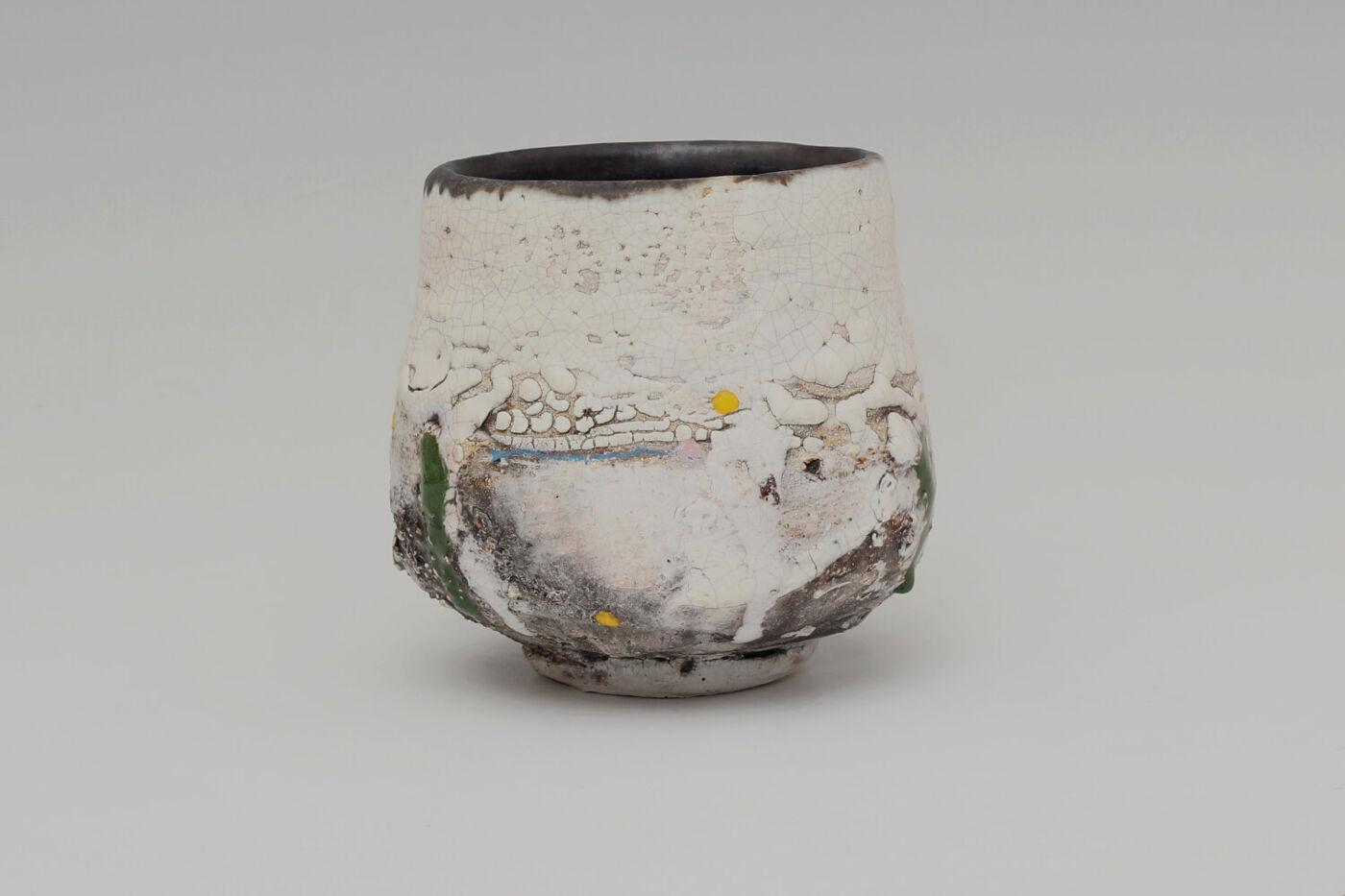 Sam Hall Ceramic Footed Bowl 042