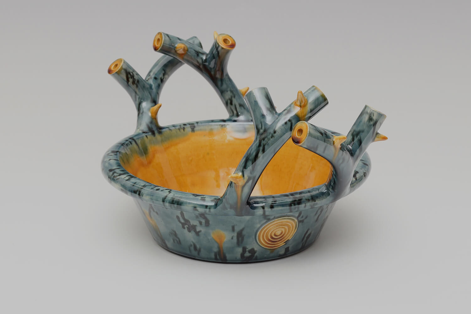 Walter Keeler Ceramic Thorn Handled Deep Dish 05