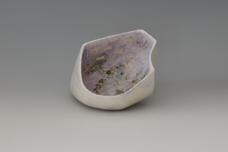 Carolyn Genders Ceramic Earthenware Vessel 'Speckled Violet lll'