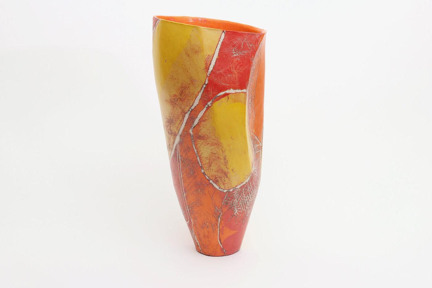 Carolyn Genders Ceramic Tall Vessel 'Hot Stuff'
