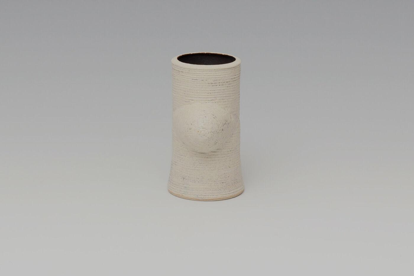 Chris Carter Ceramic Grooved Crossed Form 156