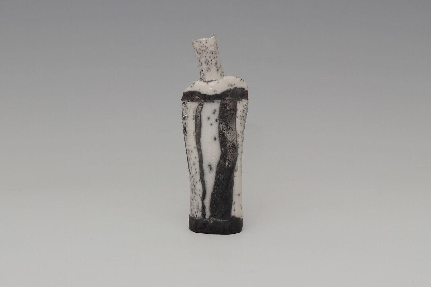 Elizabeth Raeburn Ceramic Raku Bottle 11