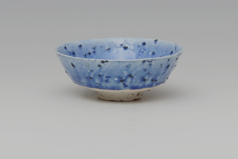 Peter Wills Ceramic Little Cobalt Blue River Grogged Porcelain Bowl 195