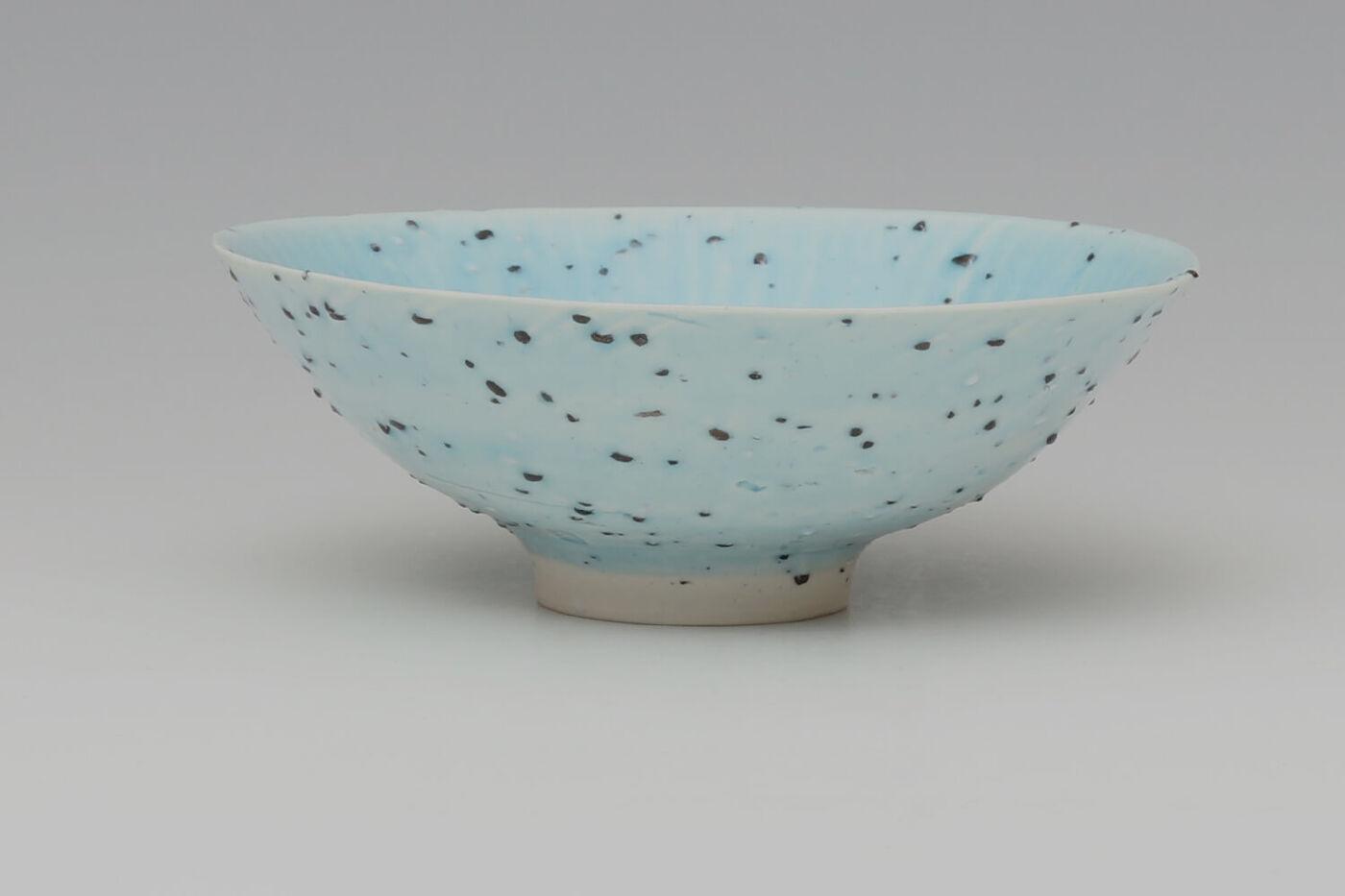 Peter Wills Ceramic Pale Blue River Grogged Porcelain Bowl 194