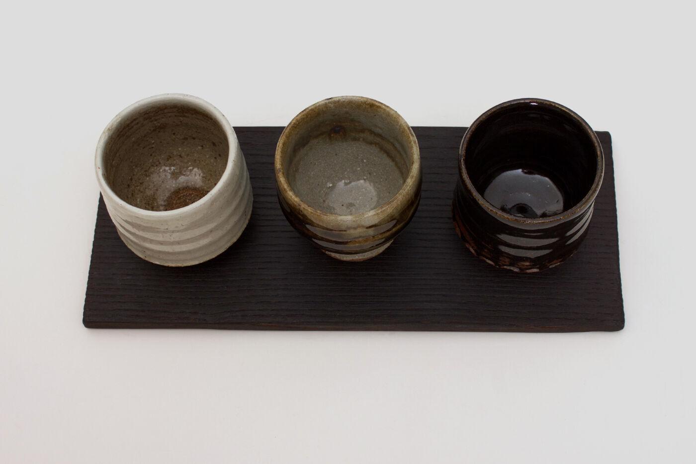 Tim Lake Set of Three Ceramic Guinomi