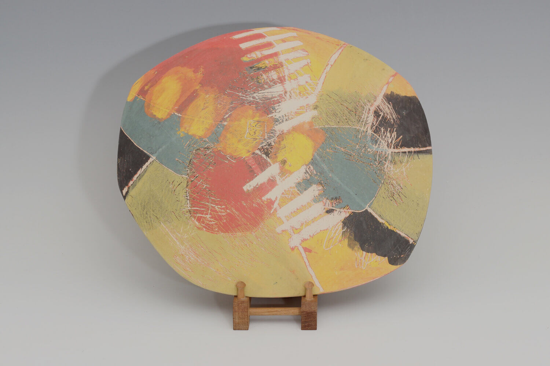 Carolyn Genders Ceramic Charger 'Orange Joy'
