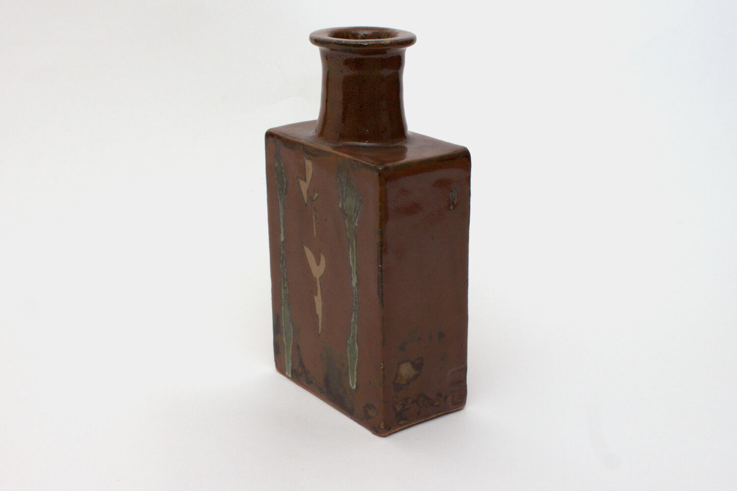Jim Malone Ceramic Slab Sided Bottle 02