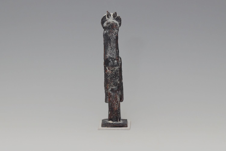 John Maltby Ceramic Sculpture of a Man with Bird 029
