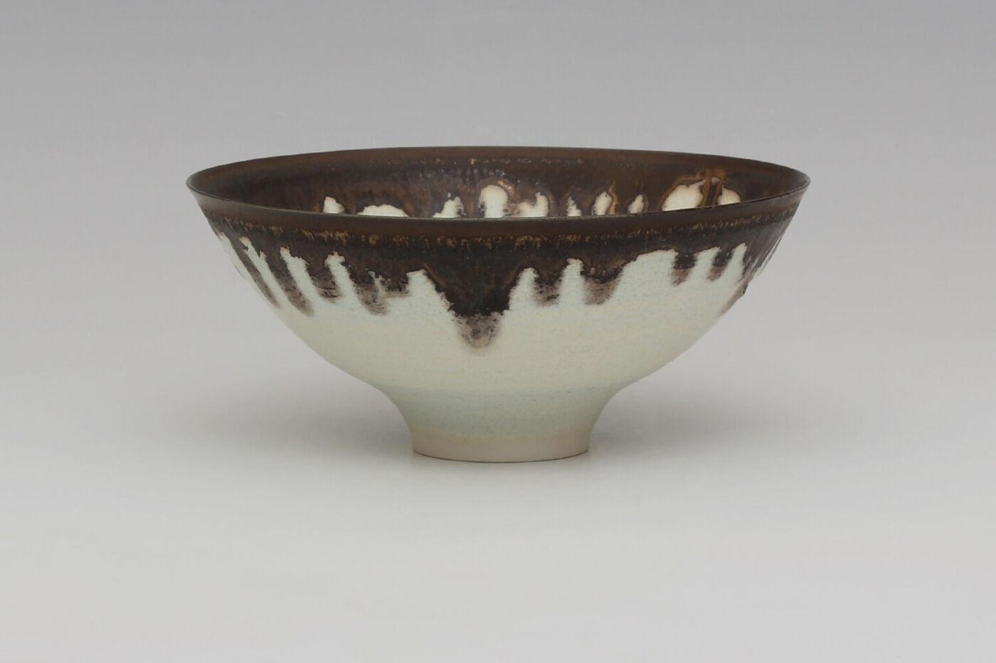 Peter Wills Ceramic Pale Blue Green Porcelain Bowl 205