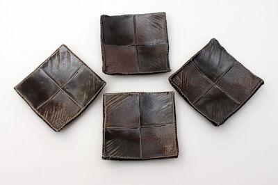 Sandy Lockwood Set of 4 Small Square Ceramic Dishes