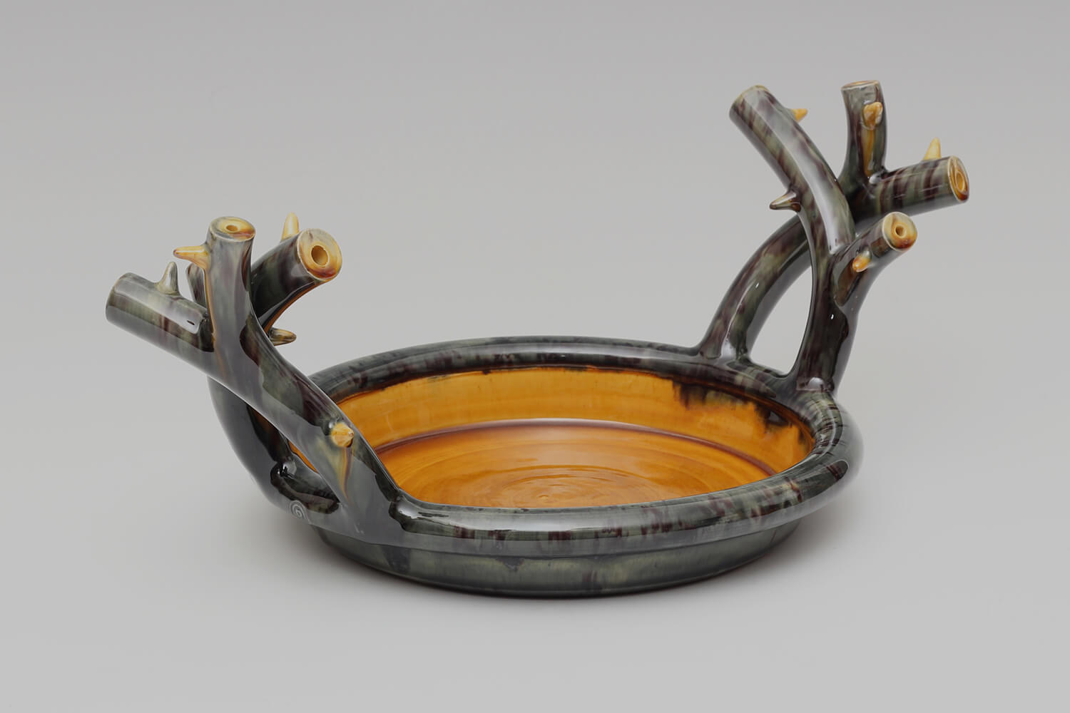 Walter Keeler Ceramic Thorn Handled Shallow Dish 05