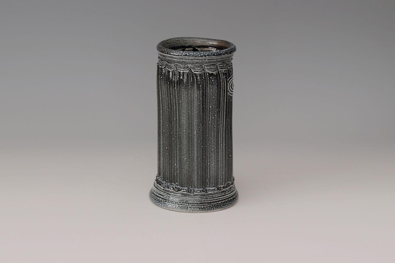 Walter Keeler Ceramic Salt Glazed Extruded Vase 01