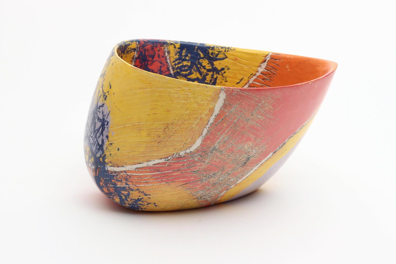 Carolyn Genders Ceramic Vessel 'Blue Net I'