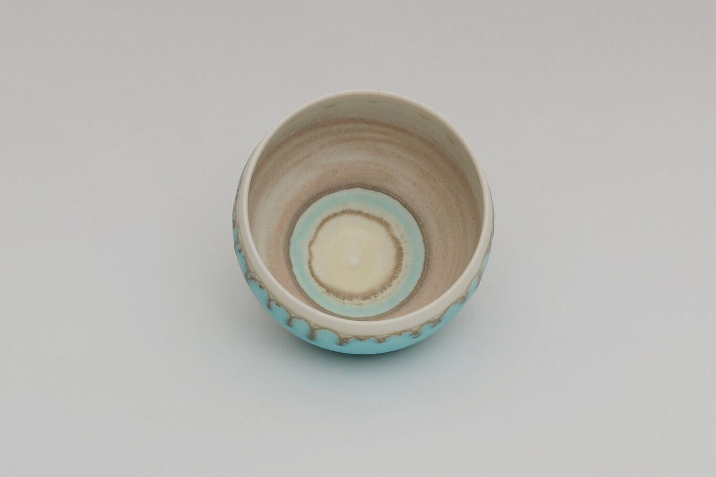 Peter Wills Ceramic Blue Porcelain Bowl 209