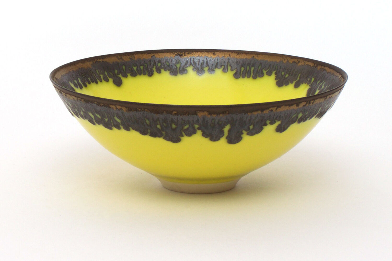 Peter Wills Yellow Porcelain Bowl 132