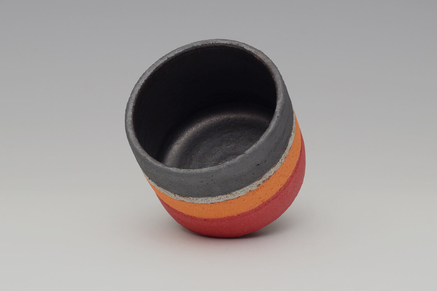 Rosalie Dodds Ceramic Orange, Black & Red Bowl 06