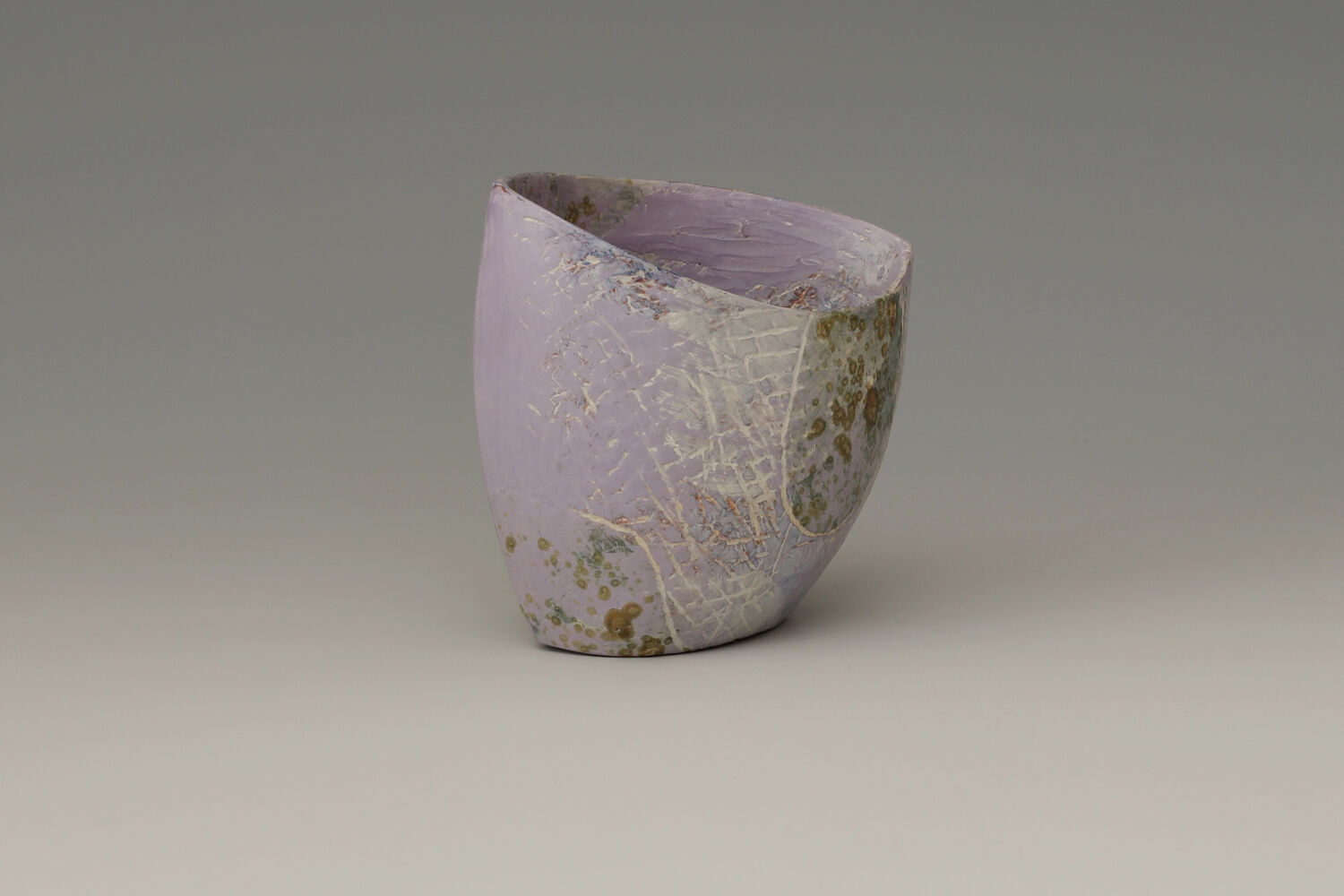 Carolyn Genders Ceramic Earthenware Vessel 'Speckled Violet ll'