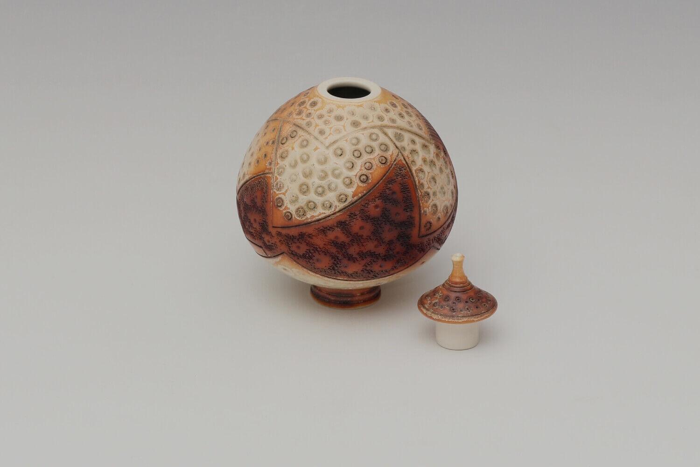 Geoffrey Swindell Ceramic Lidded Vessel 025