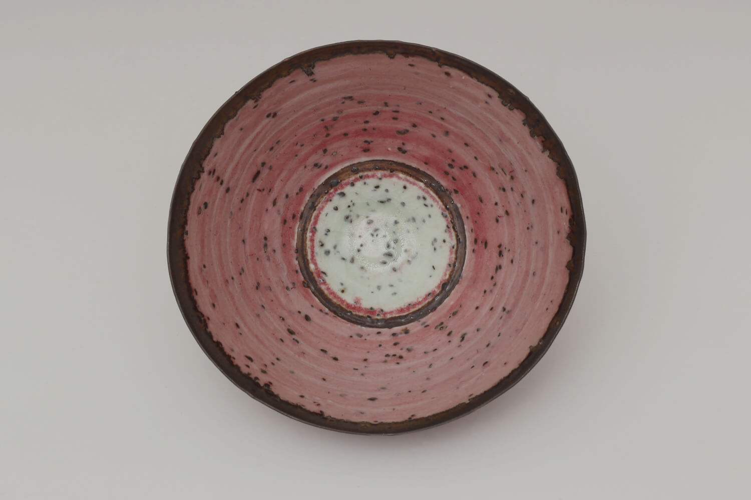 Peter Wills Ceramic Conical Copper Red River Grogged Porcelain Bowl 197