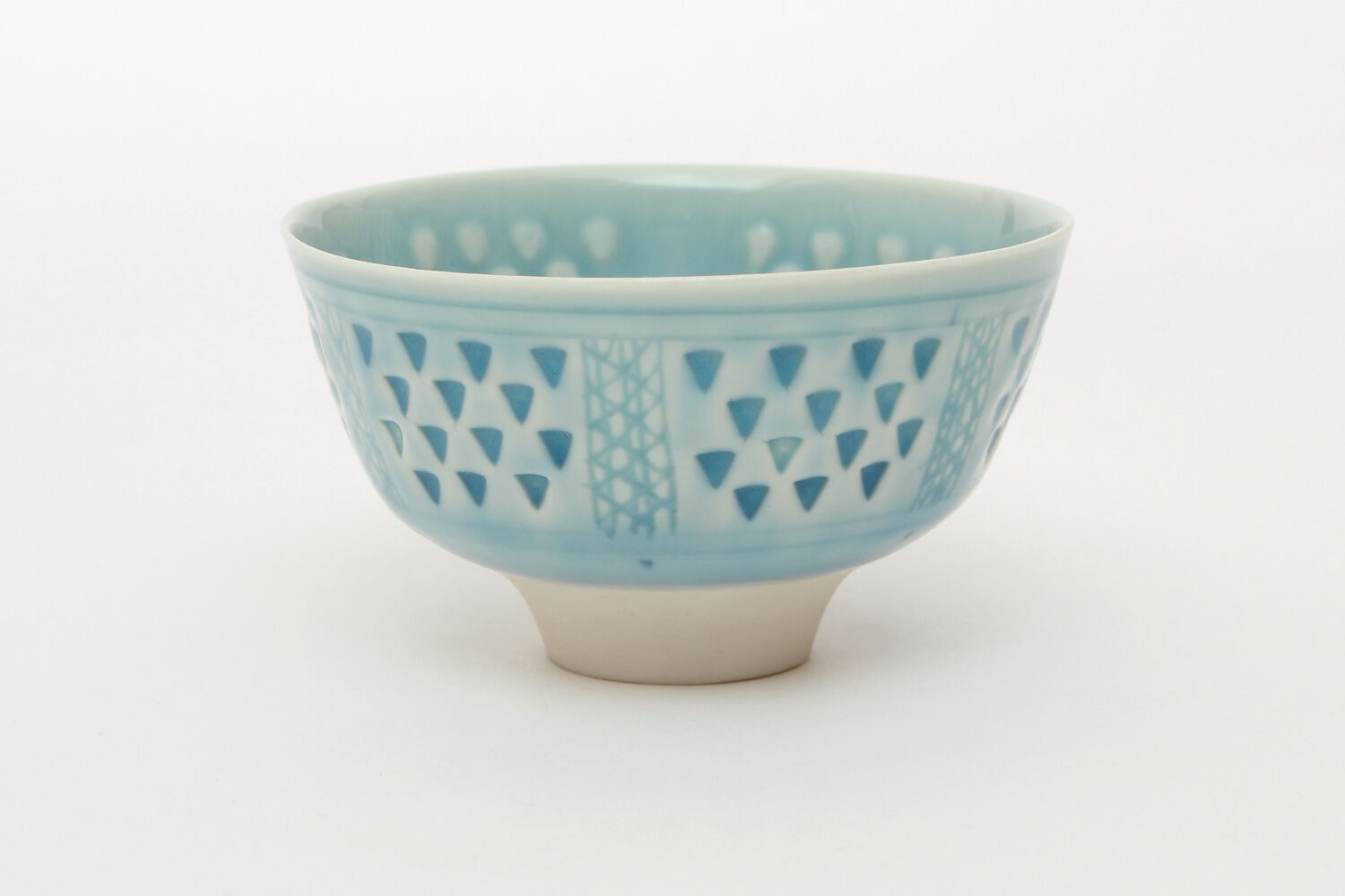 Peter Wills Impressed Light Blue Porcelain Bowl 147